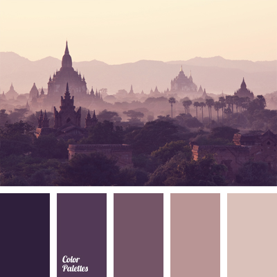 Monochrome Violette Farbpalette Tag Farbe Ideenfarbe Ideen